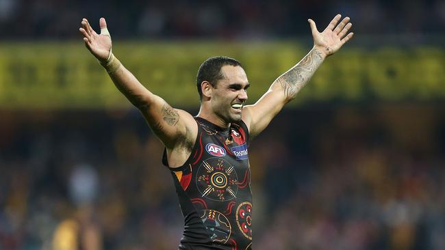 Shaun Burgoyne is married to Erin's sister, Amy. Photo: Mark Metcalfe/AFL Media/Getty Images