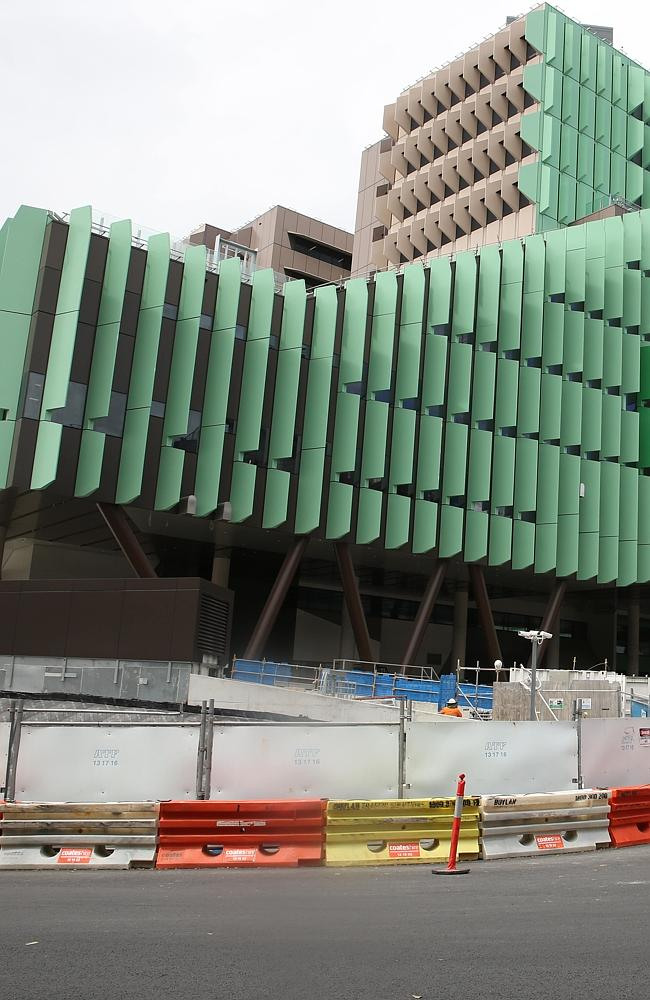 Construction of the new Lady Cilento Children's Hospital in South Brisbane. Picture: David Kelly