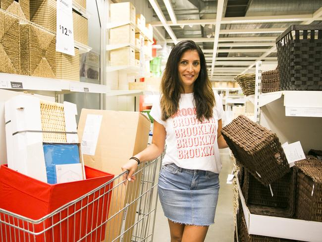 Professional organiser and property stylist Anita Birges in Ikea, Tempe. Picture: Dylan Robinson