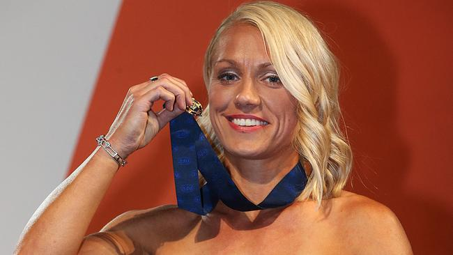 Erin Phillips wins the Best and Fairest. Picture : Ian Currie
