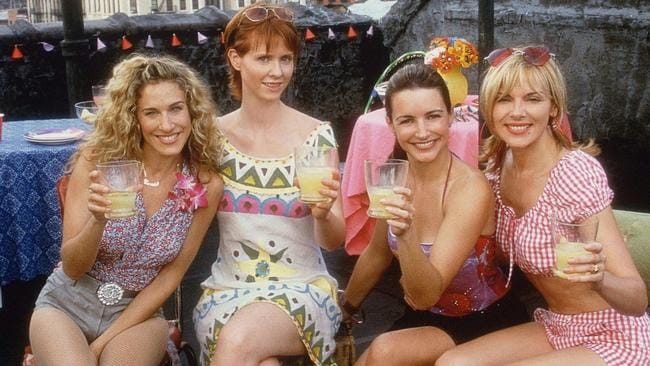 Parker (left) with her co-stars Cynthia Nixon, Kristin Davis and Kim Cattrall.