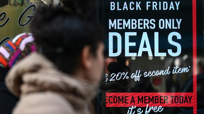 Black Friday has become a major sale day in Australia. Picture: Hollie Adams/Getty Images