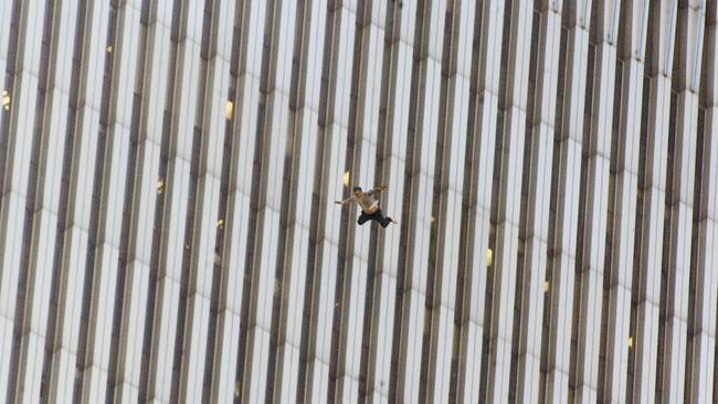 An image from AP photographer Richard Drew's sequence of 'The Falling Man' taken at World Trade Centre on 9/11 has been bought by the Australian War Memorial. Picture: Richard Drew/AP