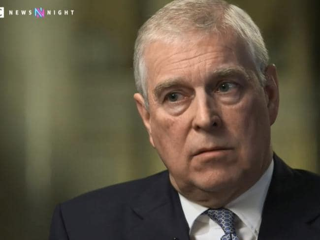 In hindsight, Prince Andrew probably has serious regrets about agreeing to that infamous interview with BBC Newsnight's Emily Maitlis. Picture: BBC.