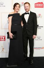 Luke McGregor and Celia Pacquola arrive on the red carpet at the 59th annual TV Week Logie Awards on April 23, 2017 at the Crown Casino in Melbourne, Australia. Picture: Julie Kiriacoudis