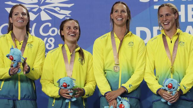 The Aussie swimmers could teach us all a thing or two about peak performance. (AP Photo/Rick Rycroft)