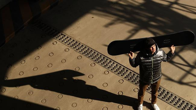 Australian Snowboarder Scotty James poses during previews ahead of the PyeongChang 2018 Winter Olympic Games.
