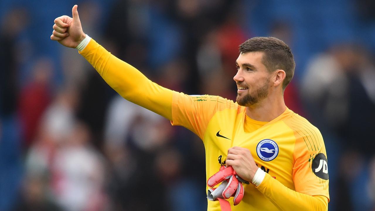 Brighton's Australian goalkeeper Mathew Ryan. (Photo by Glyn KIRK / AFP)