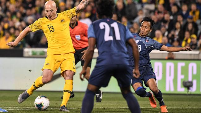 Is Aaron Mooy the Socceroos' next captain? Picture: AAP