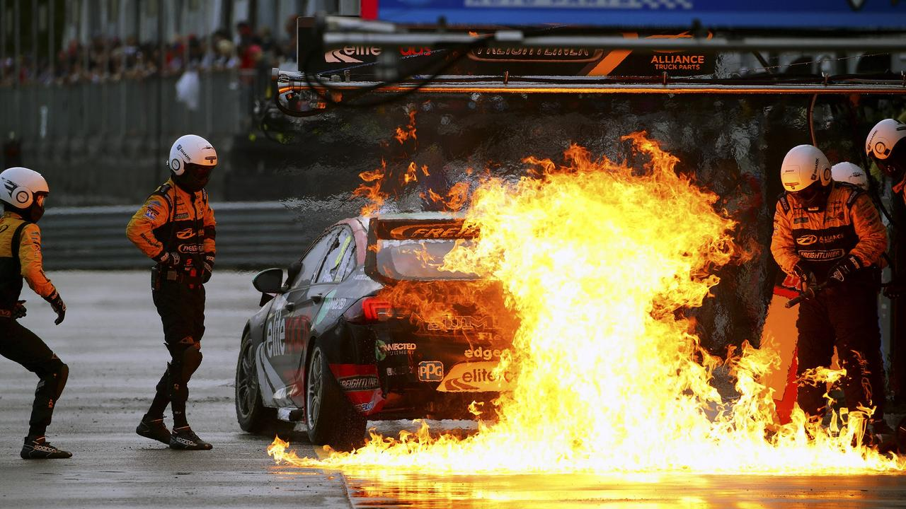Ugly scenes in the Townsville pit lane for Brad Jones Racing.