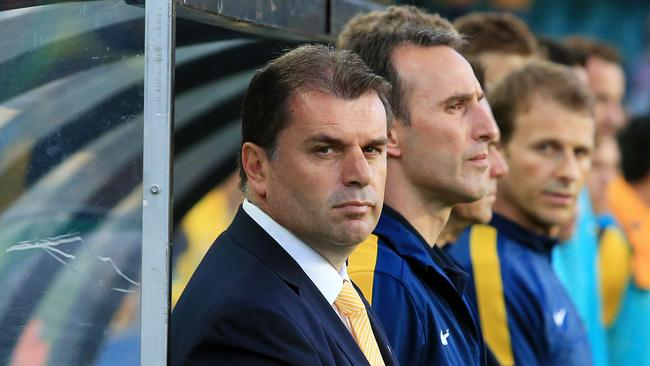 Ange Postecoglou before the Australian Socceroos vs Costa Rica friendly game in 2013.
