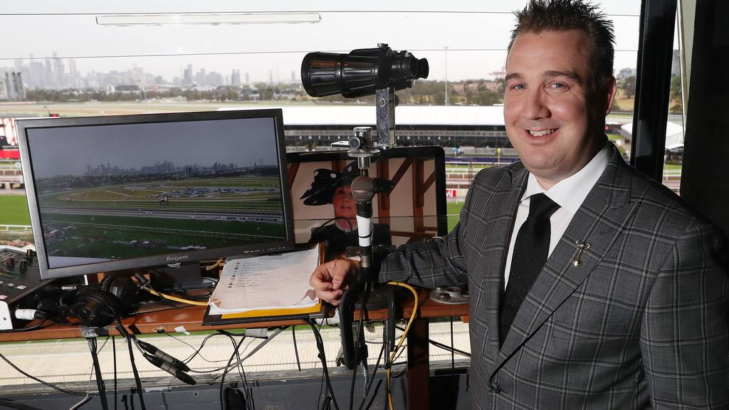 Matt Hill, seen here on Derby Day, wanted to be a race caller from an early age. Pic: Michael Klein