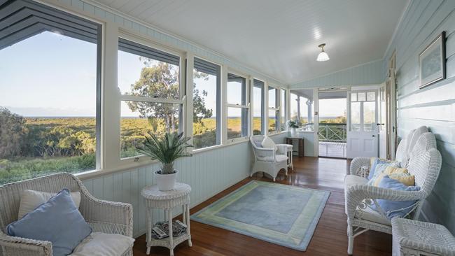 It has a classic Queenslander veranda.