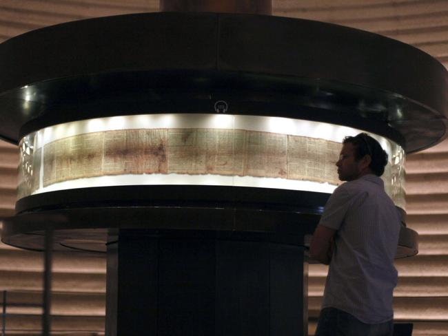 The Dome of the Book is a protective structure built in Israel to house the Dead Sea Scrolls.