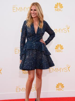 Julia Roberts arrives at the 66th Annual Primetime Emmy Awards.