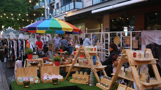 The Ebenezer Night Markets have an assortment of gifts and delicious food to check out. Picture: AAP/Emma Brasier