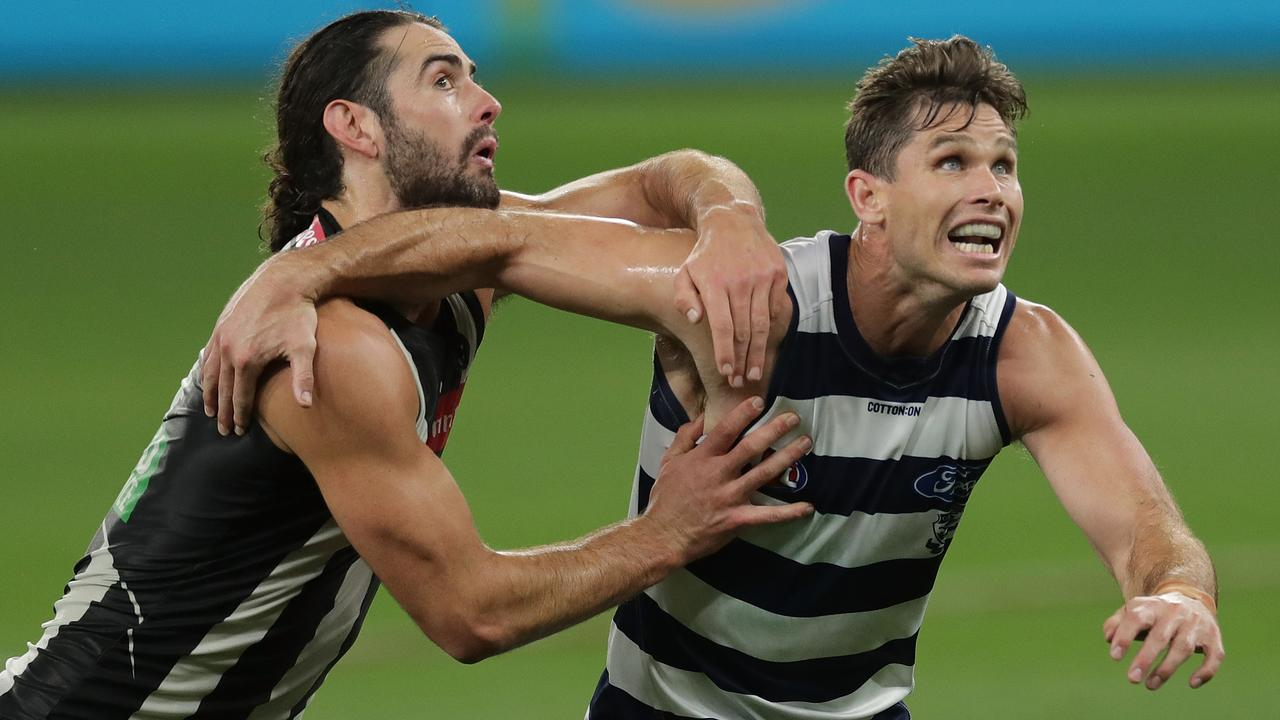 The AFL ruck nomination rule has been slammed by a great. Photo: Will Russell/AFL Photos/via Getty Images.