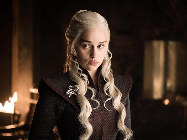 Emilia Clarke in the role of Daenerys Targaryen from Game of Thrones, which is being re-released in 4K. Picture: HBO