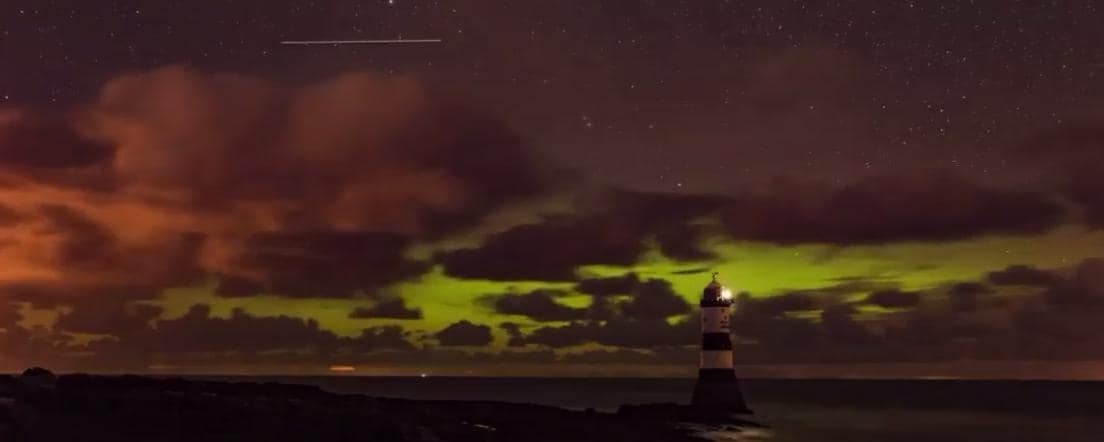 Timelapse Shows Aurora Over Welsh Island of Anglesey. Credit - Twitter/Don Cardy via Storyful