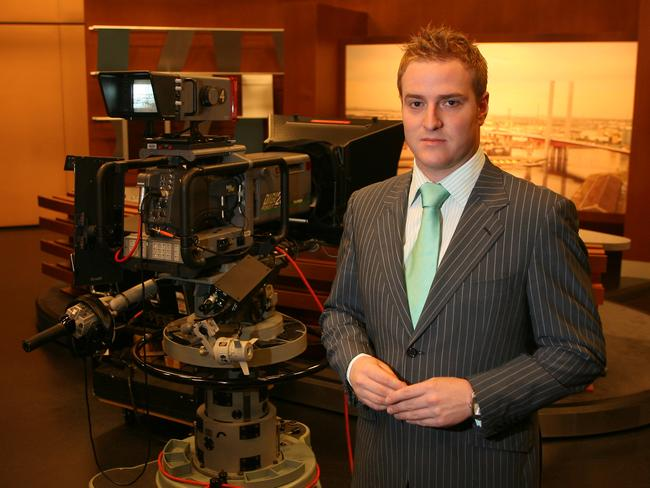 Dylan Howard at Channel 7 in 2007. He was fired from the station that year.