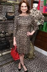 The Unbreakable Kimmy Schmidt's Ellie Kemper wore this leopard print Kate Spade dress to a Kate Spade event in New York City. Picture: Cindy Ord/Getty Images for Kate Spade New York