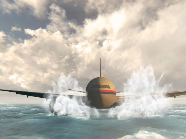 An MH370 re-recreation from 60 Minutes. Picture: Channel 9