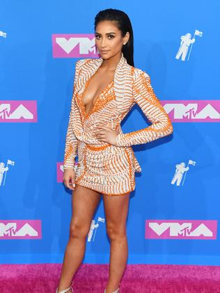 Suited up! Shay Mitchell. Picture: Getty