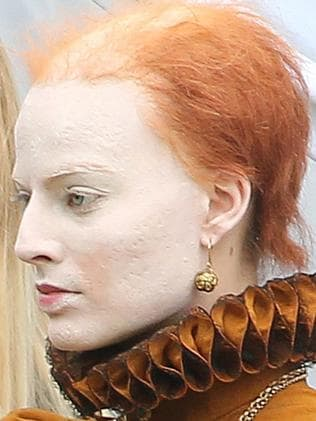 As Queen Elizabeth I: minus glowing skin and hair. Picture: Splash