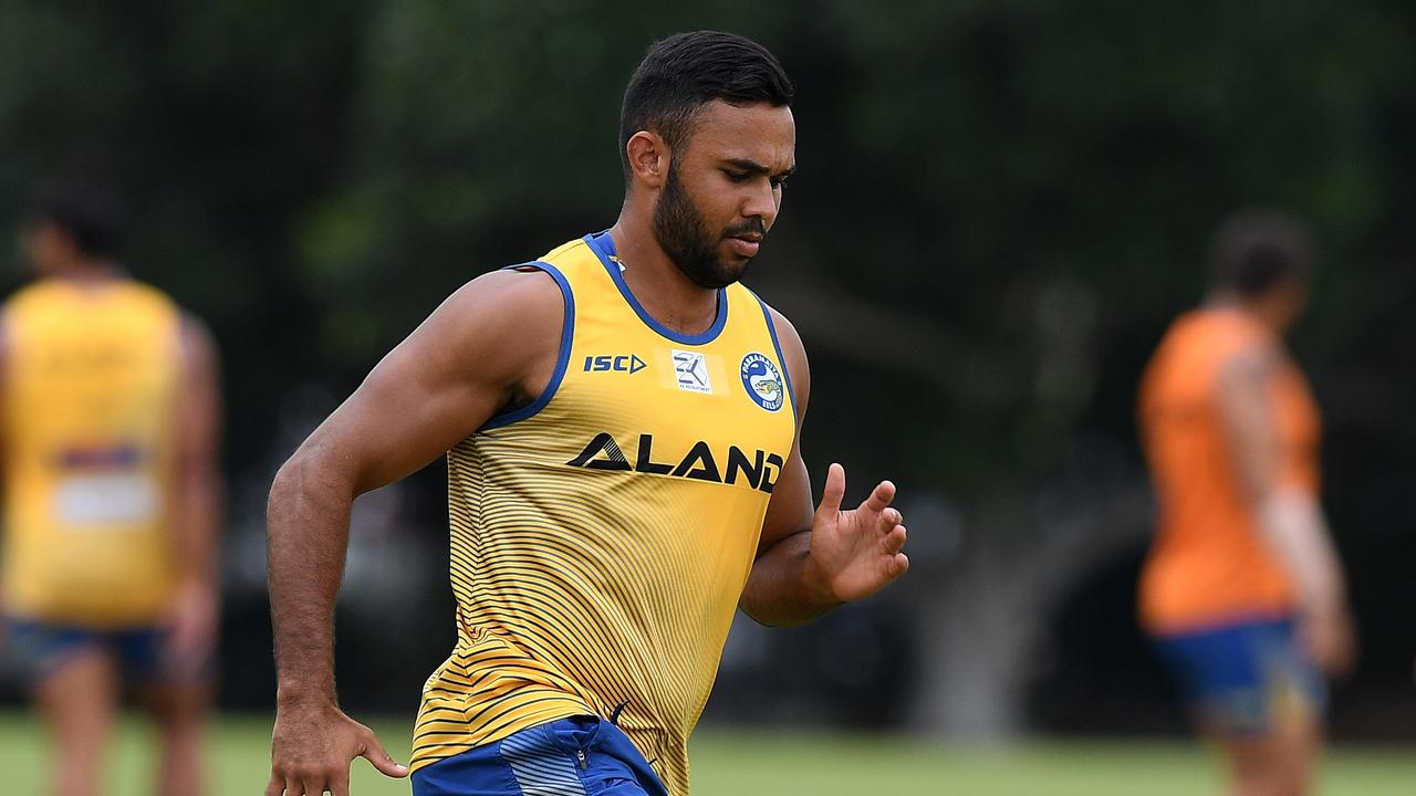 Bevan French at Eels training.