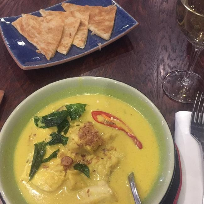 Don't judge this excellent curry by the bad photo. It was delicious. Picture: Supplied