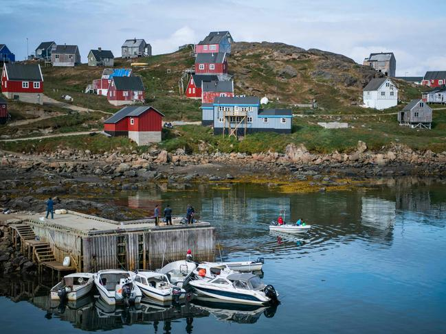 A general view of the town of Kulusuk in Greenland on August 19, 2019. Picture: AFP
