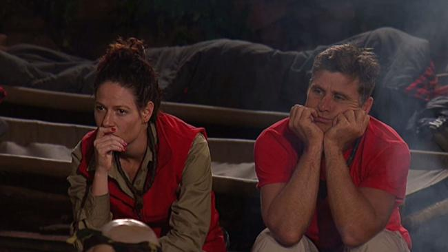 The I'm A Celeb camp mates were moved by Dermott's story.