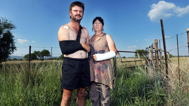 Berdus Henrico and Estelle Nieuwenhuys were attacked in February on a farm in the Limpopo province. Henrico fought with two men who attacked with a knife and screwdriver, after which a third man came into their remote farmhouse with a handgun and shot him three times. He is lucky to be alive.