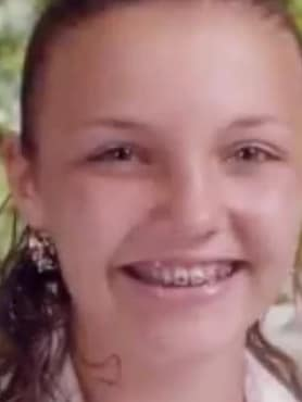 Courtney Wild was just 14 and still in braces. Picture: GMA.