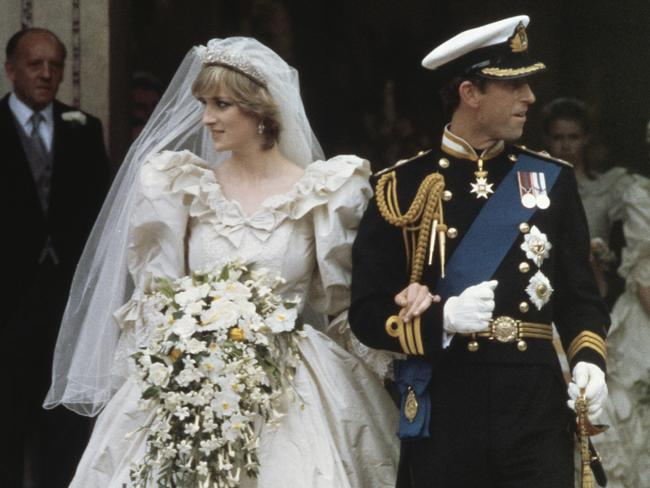 Charles and Diana's wedding at St Paul's Cathedral on July 29, 1981. Picture: Fox Photos/Hulton Archive/Getty Images