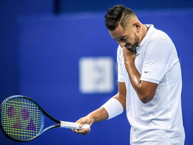 It comes as Kyrgios suffered a shoulder injury.