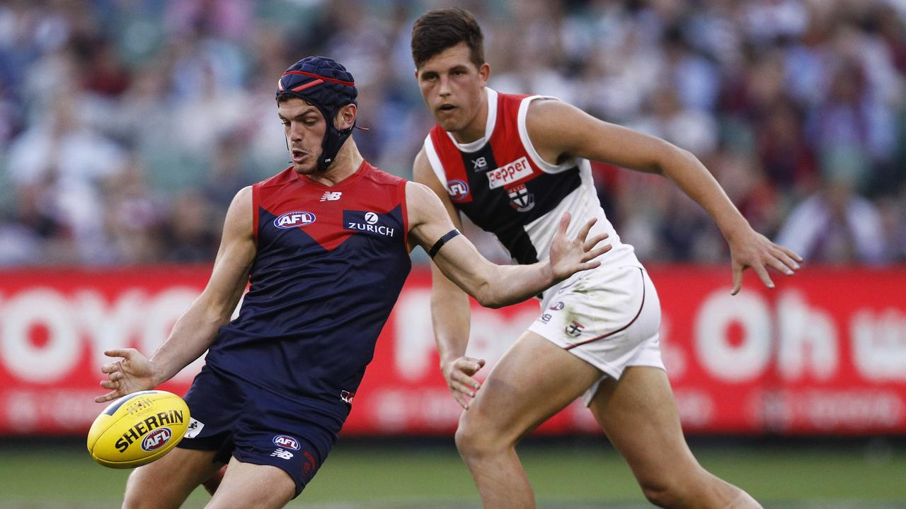 Angus Brayshaw is part of the Demons' on-ball brigade. (AAP Image/Daniel Pockett)