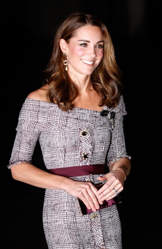 Duchess of Cambridge with her teeny tiny handbag. Picture: Chris Jackson/Getty Images