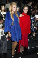 Paris Hilton and Nicky Hilton Rothschild attend the Oscar De La Renta show as part of Fashion Week on February 13, 2017 in New York City. Picture: AP