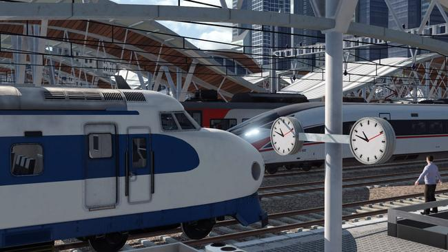 Modern trains like the Japanese Shinkansen 'Bullet Train' will also feature in the game.