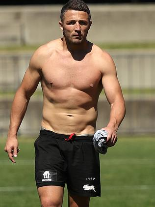 Burgess at Souths Sydney Rabbitohs training. Picture. Phil Hillyard