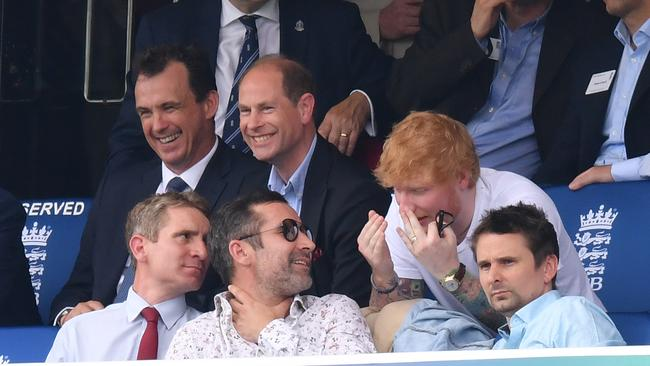 Prince Edward, Earl of Wessex finds himself sitting next to Ed Sheeran at Lord's.