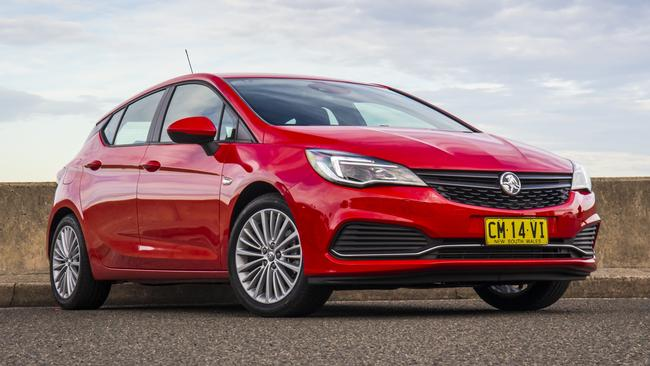 Holden dealers are still digesting a large number of Astra hatches reported as sold last year, but have not been sold to a paying customer yet. Picture: Supplied.