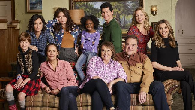 The revival of Roseanne was abruptly cancelled after Barr wrote a racist tweet. Picture: Robert Trachtenberg