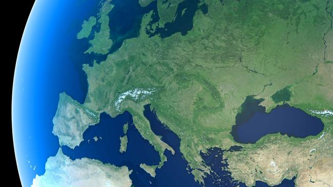Europe on the globe. Picture: supplied