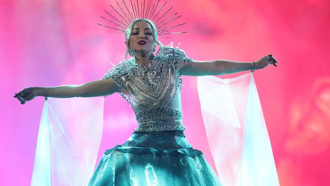 Kate Miller-Heidke performs during Eurovision has been announced as the winner. icture: Chris Hyde