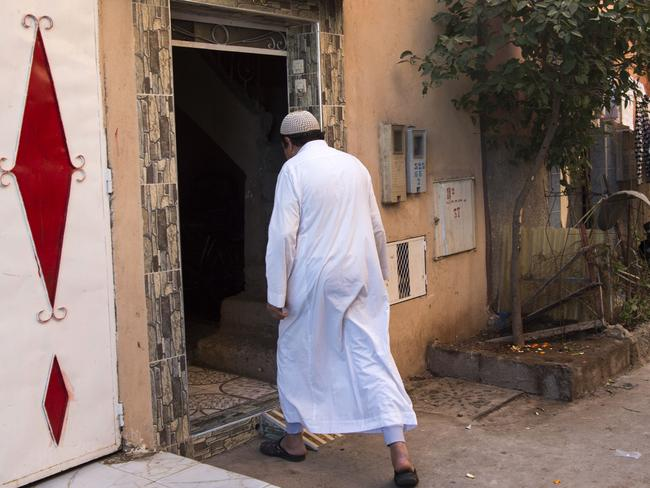 Ali, the father of suspect Ouziad Younes, outside his home. Picture: Fadel Senna/AFP