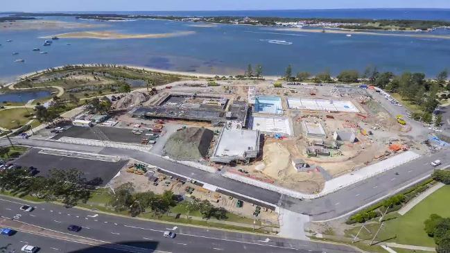 RAW: Gold Coast Aquatic Centre construction time-lapse