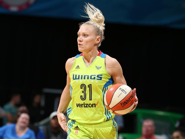 Erin Phillips played for the Dallas Wings. (Photo by David Sherman/NBAE via Getty Images)
