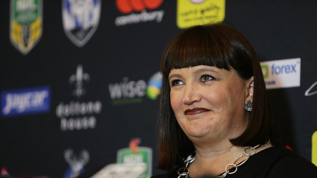 Former Bulldogs chief executive Raelene Castle pictured at Belmore Oval.